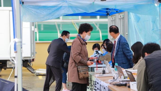 [투표장 포토] 국민혁명당 제20대 대선 후보 경선 대구 투표 현장