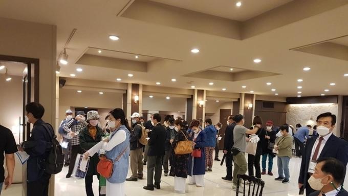 [투표장 포토] 국민혁명당 제20대 대선후보 경선 부산 투표 현장